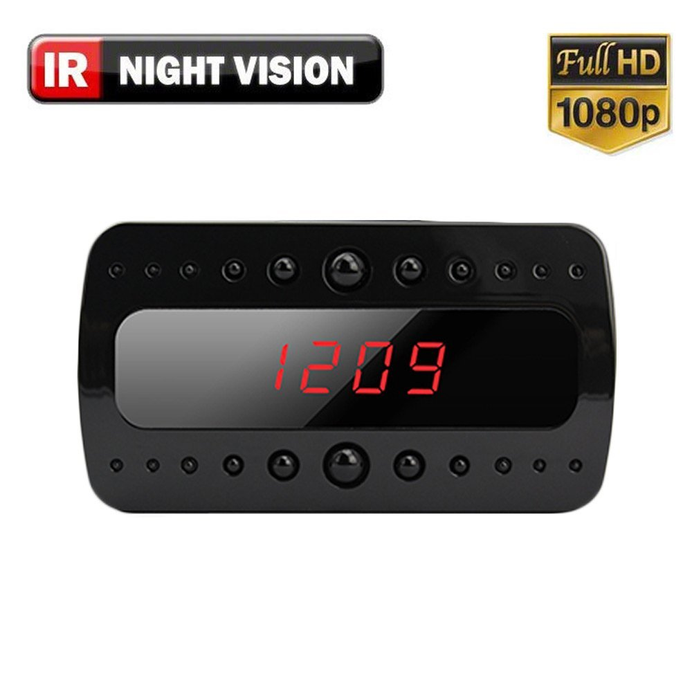 SpygearGadgets 1080P HD Mini Clock Hidden Spy Camera with Night Vision