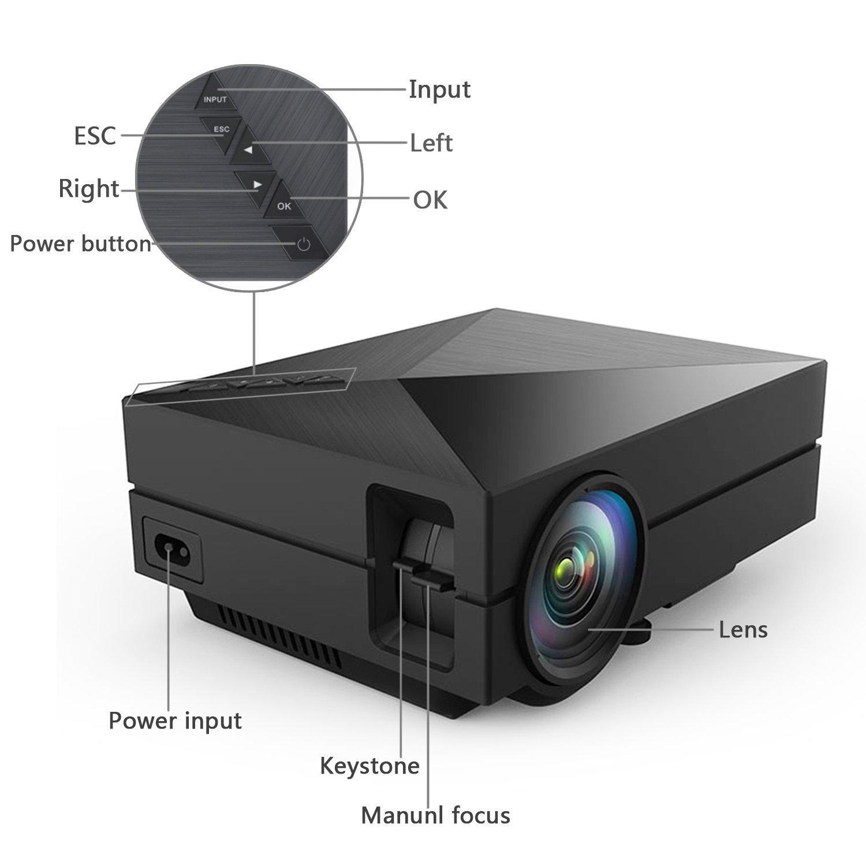 Taotaole Mini LED Projector LCD 800 Lumens Multimedia Beamer