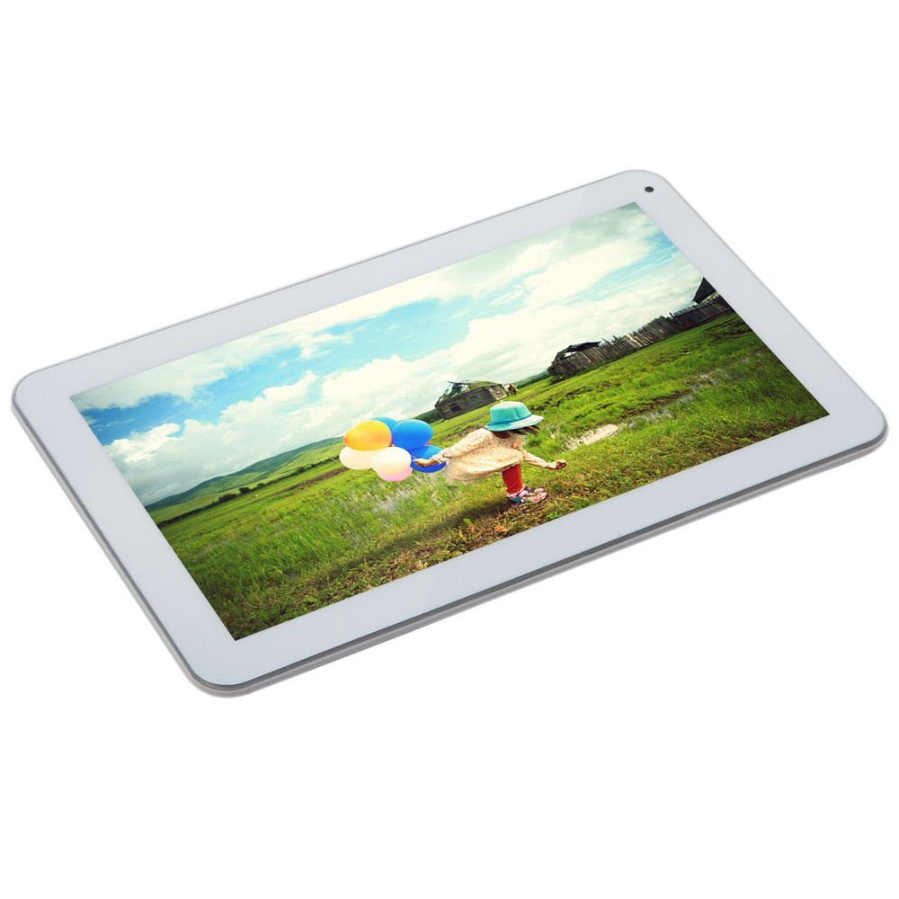 IRULU eXpro X1s 10.1 Inch Tablet PC, Android 4.4 KitKat, Quad Core, 16GB - White Front