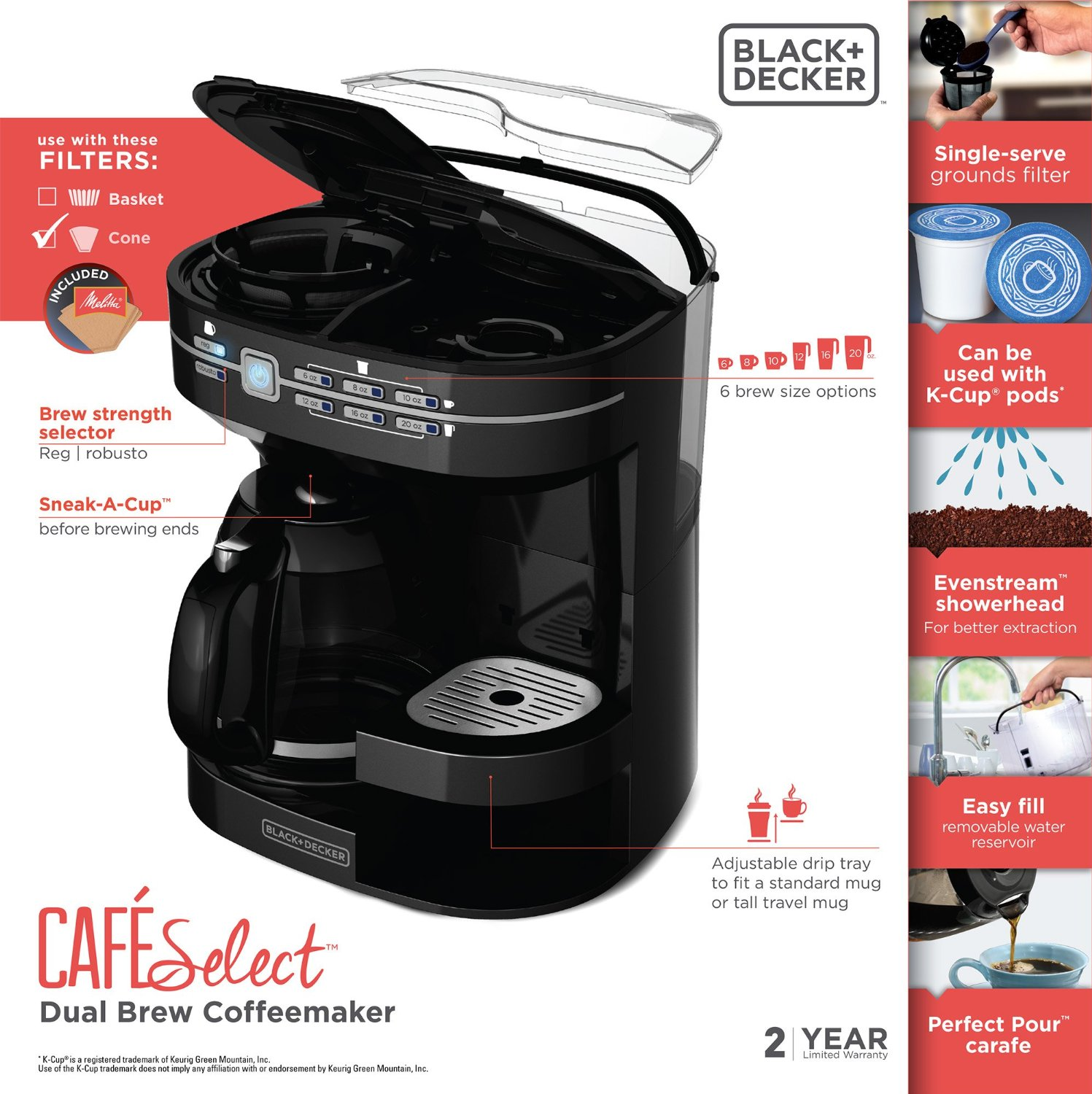 BLACK+DECKER CM6000B Cafe Select Dual Brew Coffeemaker