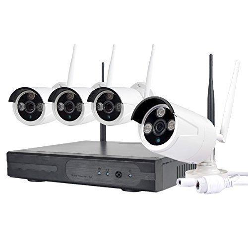 JOOAN TC-734 720P Cameras 4CH WIFI NVR Wireless Security