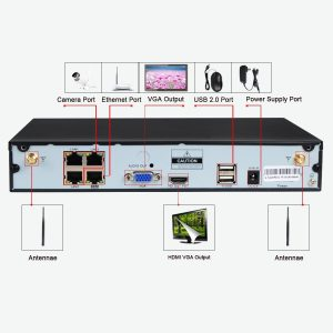 JOOAN TC-734 720P Cameras 4CH WIFI NVR Wireless Security System