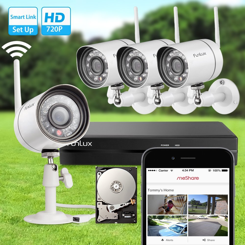 Funlux NEW Smart Wireless Surveillance Camera System