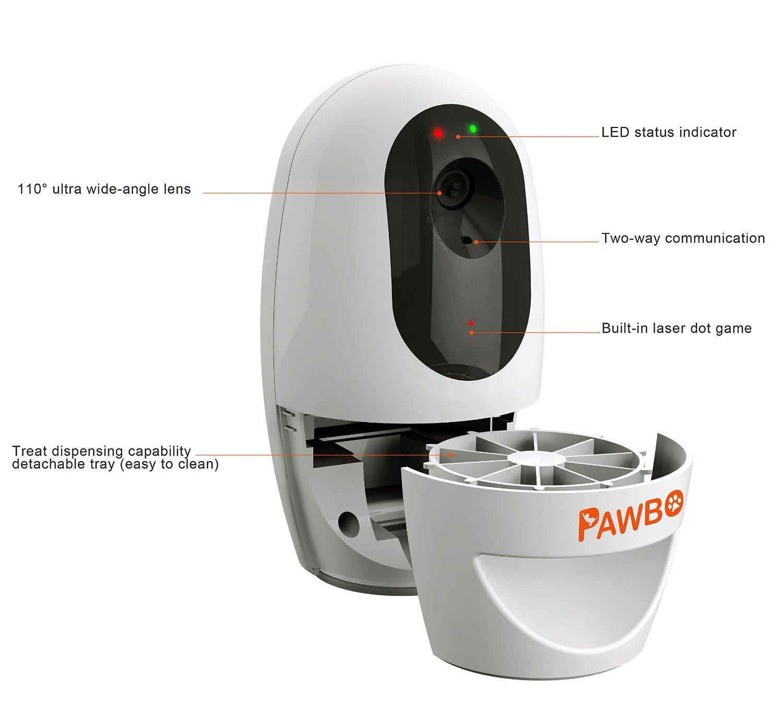Pawbo Wi-Fi Pet Camera, 720p Interactive Wireless 1001-11CL