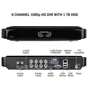 NIGHT OWL C-841-A10 8 Channel 1080P DVR Security