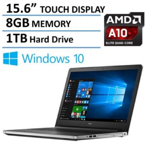 2016 Newest Dell Inspiron 15 5000 Touchscreen High Performance Laptop, AMD Quad-Core A10-8700P