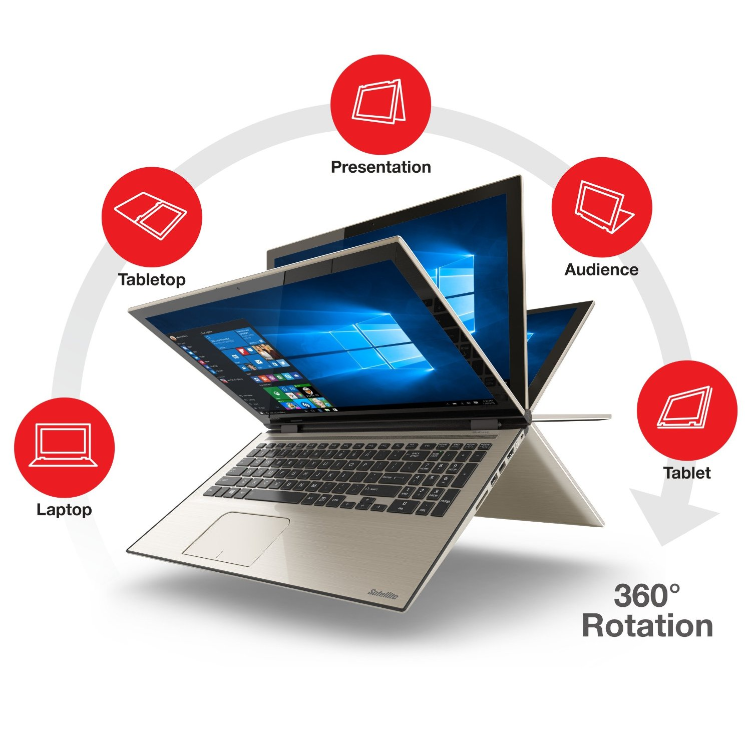 Toshiba Satellite Fusion L55W-C5252 2-IN-1 CONVERTIBLE Laptop