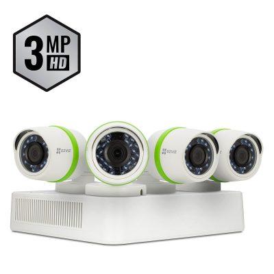 EZVIZ 4-Channel 3MP Ultra HD Security