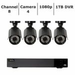Q-See 8-Channel 4-Camera 1080p Security System with 1TB HDD DVR - QTH83-4CN-1