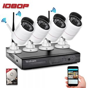 Yeskam Security Camera System 1080P HD Wireless IP Cameras