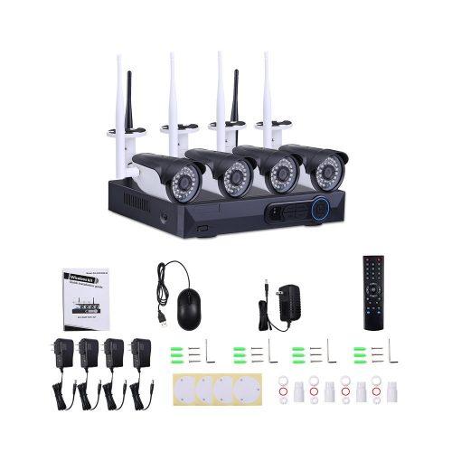 Masione 4CH 960P HD NVR Wireless Video Security Camera