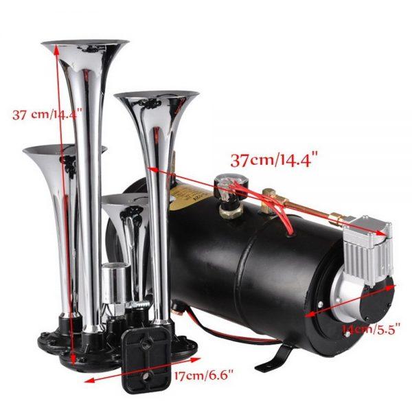 Cheesea Triple Air Horn Kit 4 Trumpets