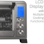 home 6 slice toaster oven lcd display