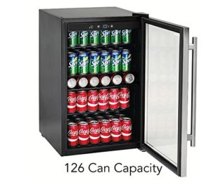 Tramontina 126-Can Capacity Stainless Steel Trim Wine Soda Beverage Center