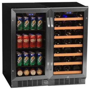 Edgestar CWBV8030 30 Bottle + 80 Can Side-by-Side