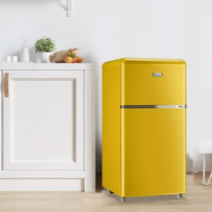 WANAI Compact Refrigerator, 3.2 Cubic Ft Classic Retro Refrigerator