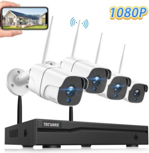 TOGUARD Wireless Security Camera System 8CH 1080P NVR