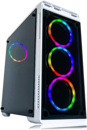 Alarco Gaming PC Desktop Computer White Intel i5