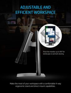 HP VH240a 23.8-Inch Full HD 1080p IPS LED Monitor