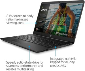 2021 HP 15.6-inch Thin Laptop, Intel N4020