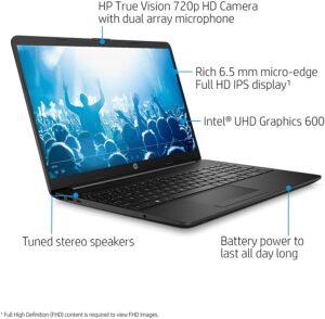 2021 HP 15.6-inch Thin Laptop, Intel N4020, 8GB RAM 128GB SSD